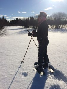 Snow shoeing on New Life Retreat's many trails